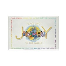 Peace & Joy Christmas Rectangle Magnet