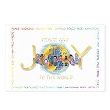Peace & Joy Christmas Postcards (Package of 8)