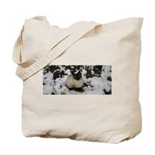 Snow Chow Chow Tote Bag
