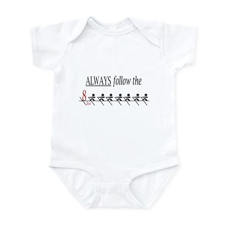 """Always follow the 8 seat"" Infant Bodysuit"