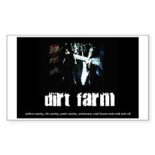 Dirt Farm Guitar/Flag Rectangle Decal