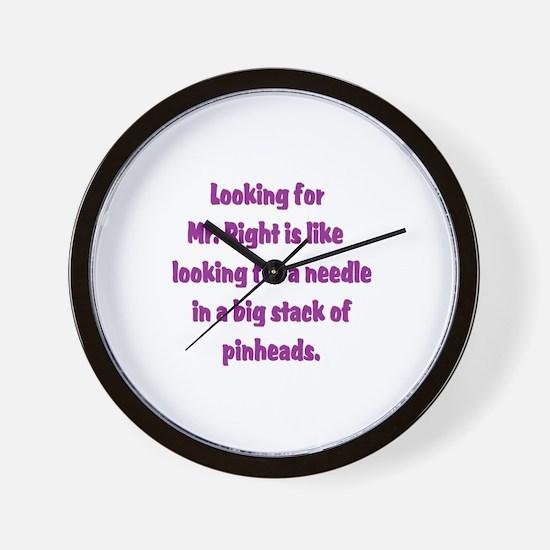 Pinheads Wall Clock