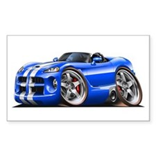 Viper Roadster Blue/White Car Rectangle Decal