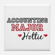 Accounting Major Hottie Tile Coaster