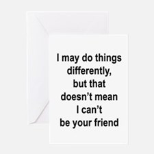"""""""Differently"""" Greeting Card"""