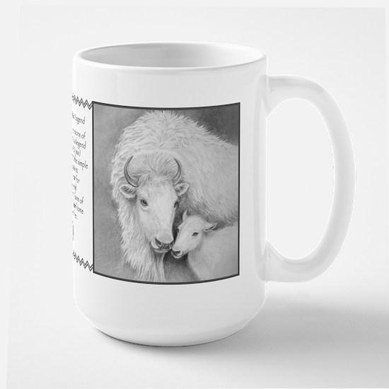 White Buffalo & Calf (Legend) ~ Large Mug