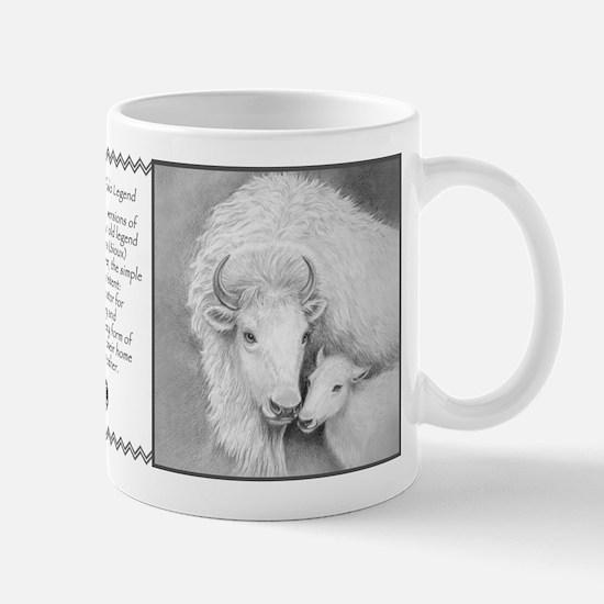 White Buffalo & Calf (Legend) ~ Small Mug