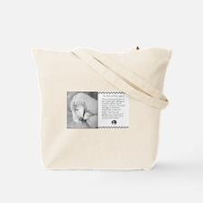 White Buffalo & Calf ~ Tote Bag