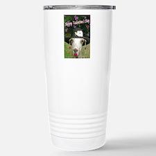 Ruby the Valentine Goat Stainless Steel Travel Mug