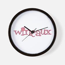 Wineaux gl bur Wall Clock
