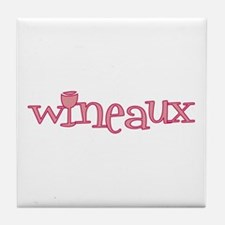 Wineaux gl bur Tile Coaster