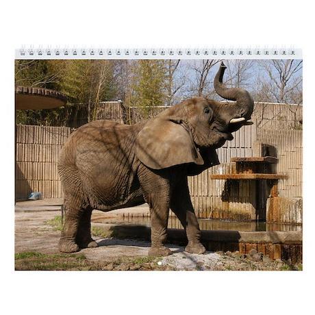 African Elephan 001 Wall Calendar