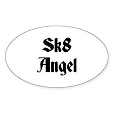 Sk8 Angel Oval Decal