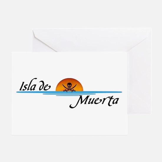 Isla de Muerta Greeting Card