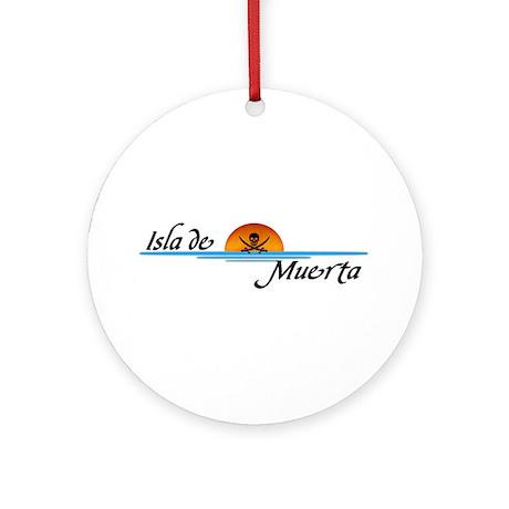 Isla de Muerta Ornament (Round)