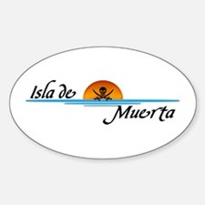 Isla de Muerta Oval Decal
