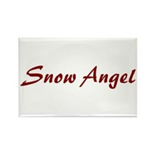 Snow Angel Rectangle Magnet