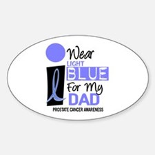 I Wear Light Blue For My Dad 9 Oval Decal