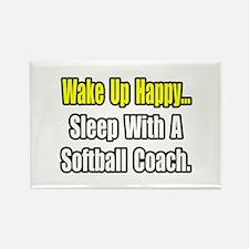 """Sleep w/ Softball Coach"" Rectangle Magnet (10 pac"
