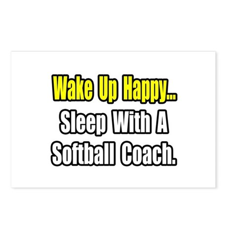 """Sleep w/ Softball Coach"" Postcards (Package of 8)"