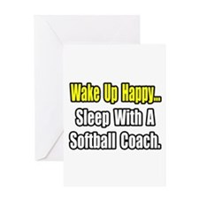 """Sleep w/ Softball Coach"" Greeting Card"