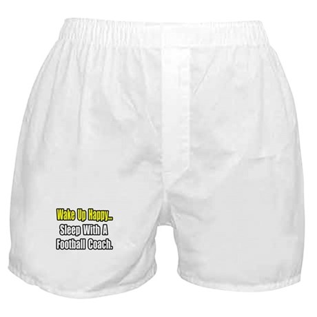 """Sleep w/ Football Coach"" Boxer Shorts"