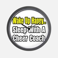 """""""..Sleep w/ Cheer Coach"""" Wall Clock"""