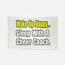 """..Sleep w/ Cheer Coach"" Rectangle Magnet (100 pac"