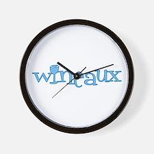 Wineaux gl blue Wall Clock