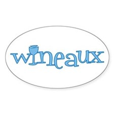 Wineaux gl blue Oval Decal