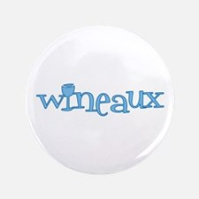 "Wineaux gl blue 3.5"" Button"