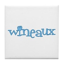 Wineaux gl blue Tile Coaster