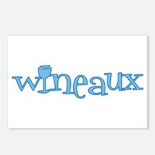 Wineaux gl blue Postcards (Package of 8)
