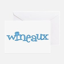 Wineaux gl blue Greeting Card
