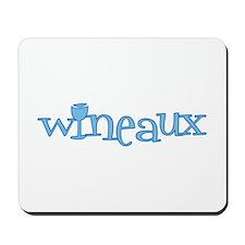 Wineaux gl blue Mousepad