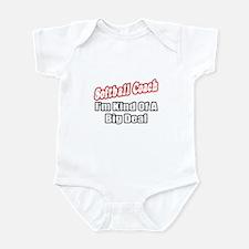 """Softball Coach..Big Deal"" Infant Bodysuit"
