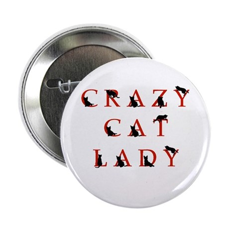 """Crazy Cat Lady (rb) 2.25"""" Button (100 pack)"""