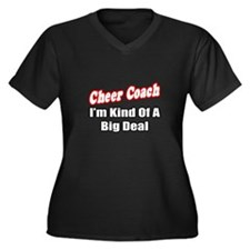 """Cheer Coach...Big Deal"" Women's Plus Size V-Neck"