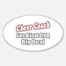 """""""Cheer Coach...Big Deal"""" Oval Sticker (10 pk)"""