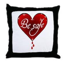 twilight be safe BH Throw Pillow
