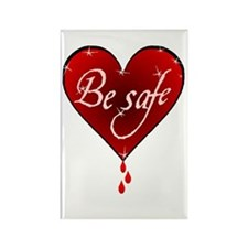 twilight be safe BH Rectangle Magnet