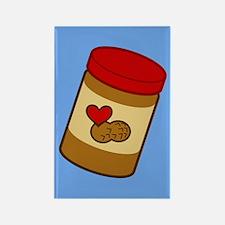 Jar of Peanut Butter Rectangle Magnet