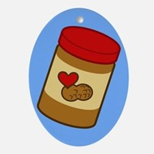Jar of Peanut Butter Oval Ornament
