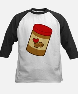 Jar of Peanut Butter Kids Baseball Jersey