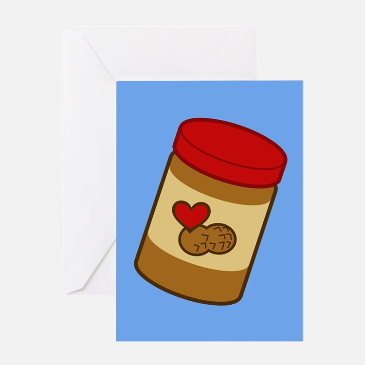 Jar of Peanut Butter Greeting Card
