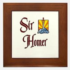 Sir Homer Framed Tile