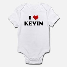 I Love KEVIN Infant Bodysuit