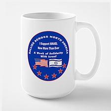 Support Israel Large Mug