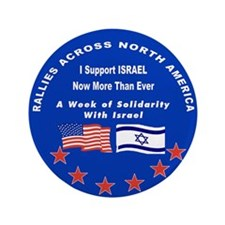 """Support Israel 3.5"""" Button"""