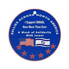 Support Israel Ornament (Round)